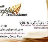 Traducciones Oficiales Intérprete Oficial del Ministerio de Relaciones Exteriores de Costa Rica