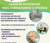 Alquiler de espacios para consultorios u oficinas