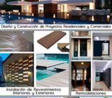 Diseño Arquitectónico (planos), Construcción, Remodelación, Estructuras Metálicas, Permisos de Const