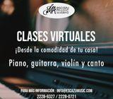 CLASES INDIVIDUALE DE PIANO, GUITARRA, VIOLÍN Y CANTO