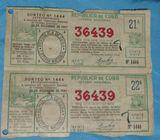 Vendo billetes lotería antigüo