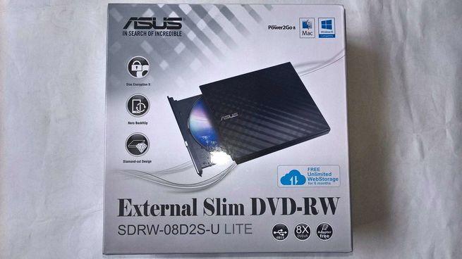 UNIDAD LECTOR/QUEMADOR DVDRW EXTERNO ASUS - USB
