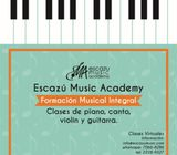 Clases en línea de piano, guitarra, violín.
