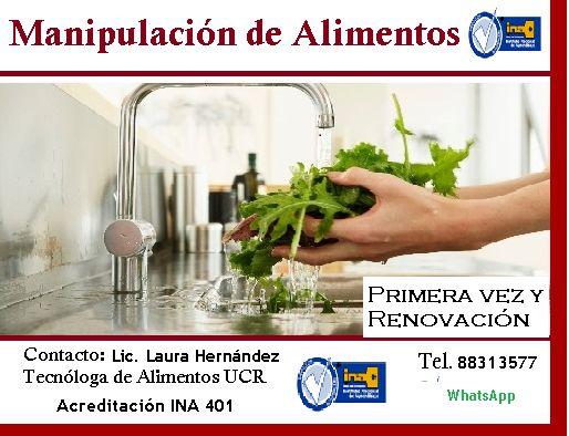 Cursos de Manipulación de Alimentos Acreditados por el INA San Pedro Montes de Oca