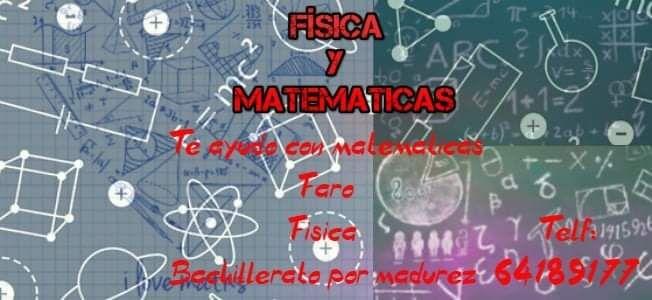 Tutorías de matemáticas y física