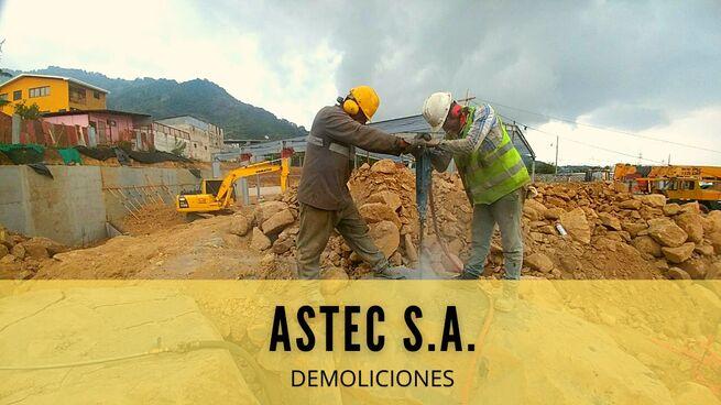 EXPLOSIVOS ,  DEMOLICIONES Y MOVIMIENTOS DE TIERRA ASTEC COSTA RICA