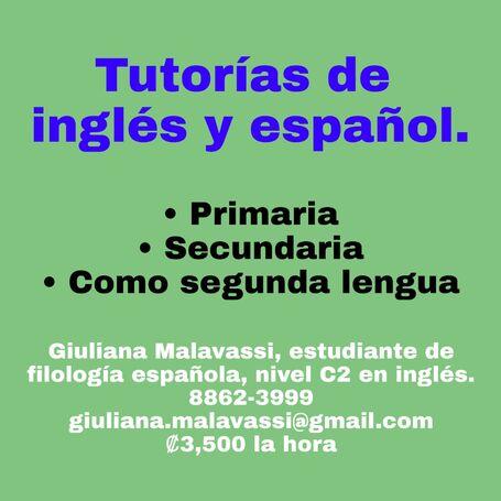 Tutorías de inglés y de español
