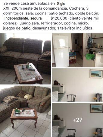 Casa amueblada en Limón Siglo XXI