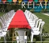 Alquiler de sillas, mesas y artículos para eventos