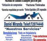 Techos, Canoas, Goteras, Remodelaciones