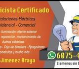 Electricista Certificado Residencial Y C