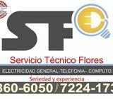 Electricista del TEC, técnico redes Telefonía y Computo